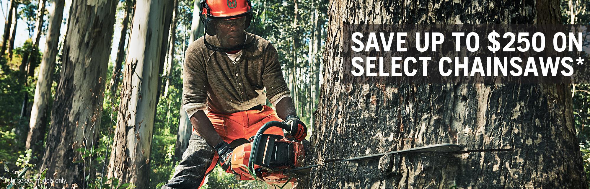 Autumn 2021 - Save 250 on Chainsaws